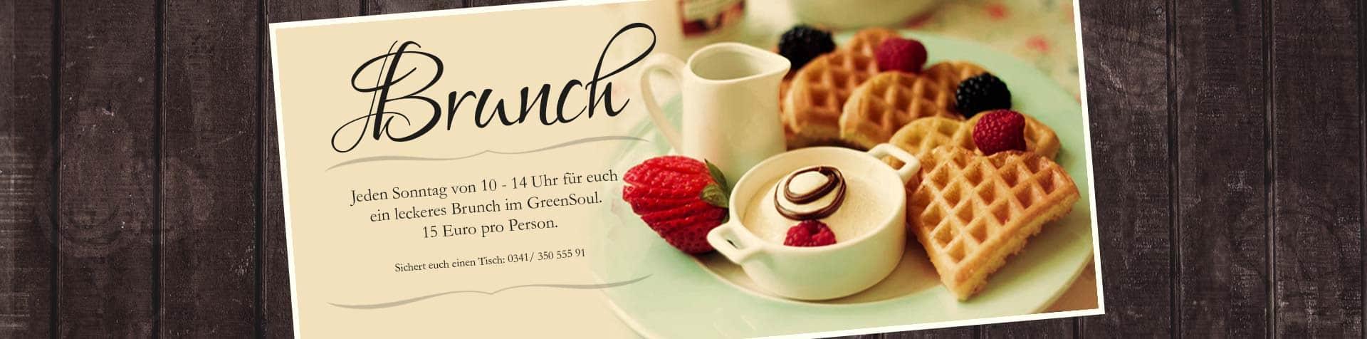 Veganes Brunch jeden Sonntag im GreenSoul - vegetarisch veganes Restaurant in Leipzig.